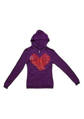 Metal Heart Burnout Purple