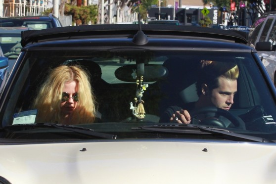 West Hollywood, CA - A healthy, happy Avril Lavigne and Ryan Cabrerra were spotted shopping for lighting fixtures in WeHo. Things must be heating up with the once friends as she awaits divorce from former husband, Chad Kroeger. Her and Ryan were spotted shopping for pumpkins over the recent holiday season.  AKM-GSI     January 25,  2016  To License These Photos, Please Contact :  Steve Ginsburg (310) 505-8447 (323) 423-9397 steve@akmgsi.com sales@akmgsi.com  or  Maria Buda (917) 242-1505 mbuda@akmgsi.com ginsburgspalyinc@gmail.com